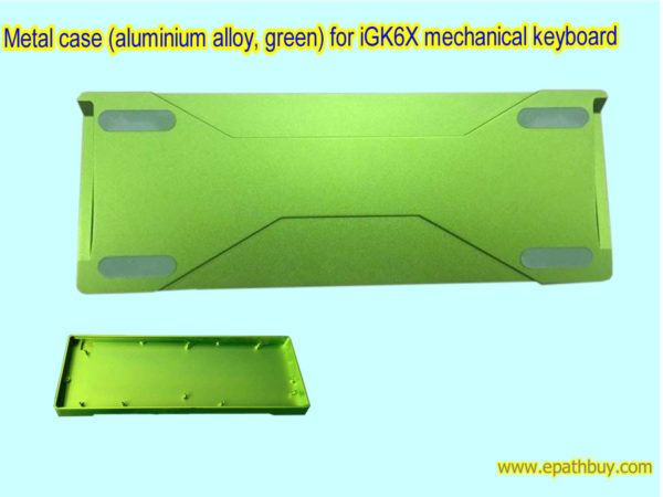 Metal case (aluminium alloy, green) for iGK6X mechanical keyboard