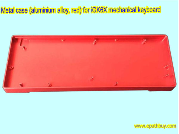 Metal case (aluminium alloy, red) for iGK6X mechanical keyboard