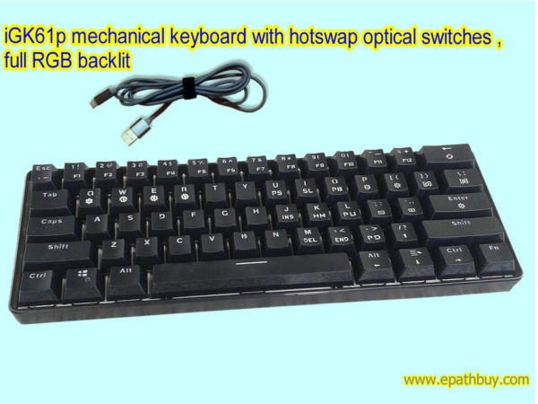 iGK61p mechanical keyboard with hotswap optical switches (Assembled)