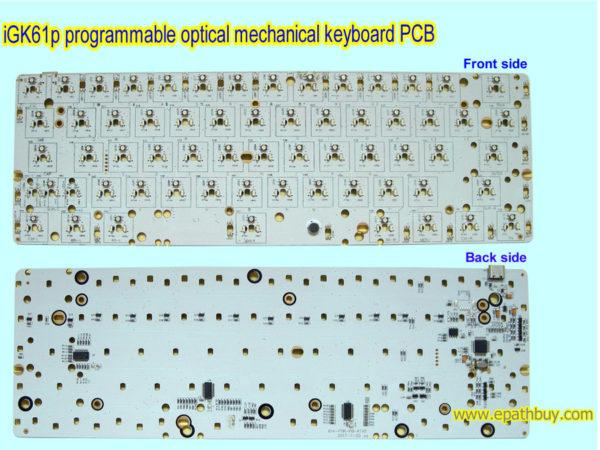 Hotswap keyboard PCB, hotswap optical key switch keyboard PCB iGK61P