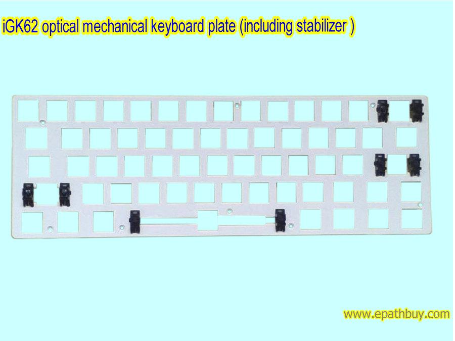 igk61p igk62 optical keyboard plate including stabilizer