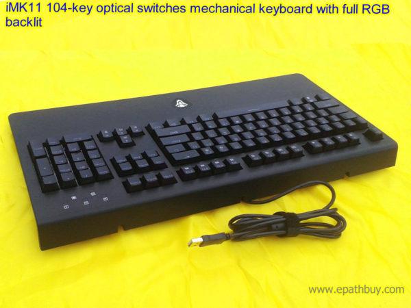 iMK11 104-key optical switches mechanical keyboard with full RGB backlit