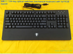 iMK11 104-key optical switches mechanical keyboard with full RGB backlit