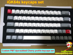 Custom mechanical keyboard keycaps for iGK64S (GK64S): pbt dye-subbed Cherry profile