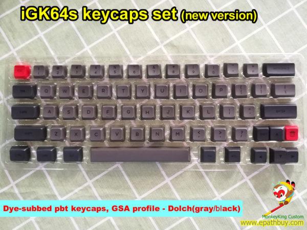 iGK64s (GK64s) pbt keycaps set, dye-subbed, GSA profile, new version