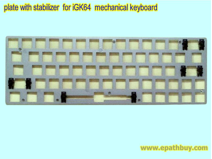 igk64 gk64 plate with stabilizer custom mechanical keyboards