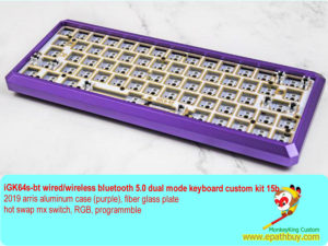 iGK64s-bt wired/wireless bluetooth 5.0 dual mode keyboard custom kit